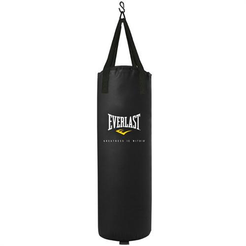 Everlast Poly and Canvas Black Punching Bag